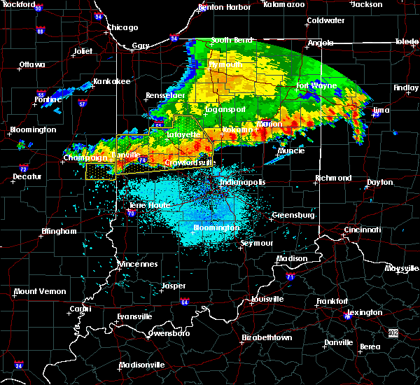 Radar Image for Severe Thunderstorms near Crawfordsville, IN at 7/13/2015 11:14 AM EDT