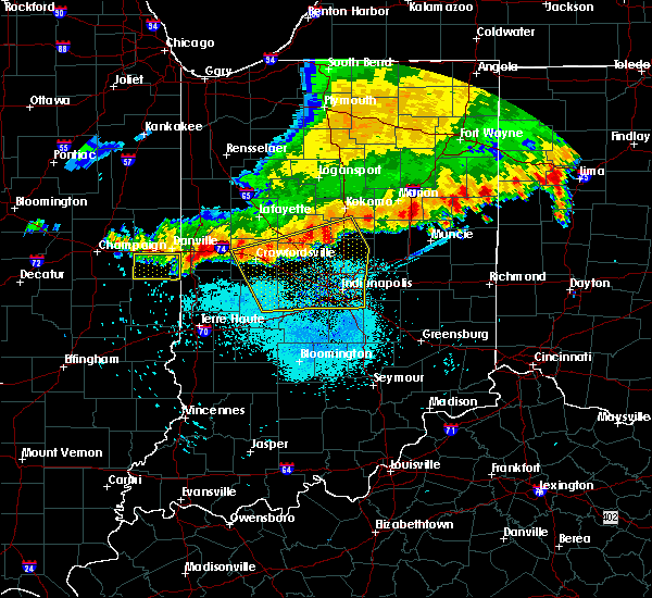 Radar Image for Severe Thunderstorms near Marshall, IN at 7/13/2015 11:20 AM EDT