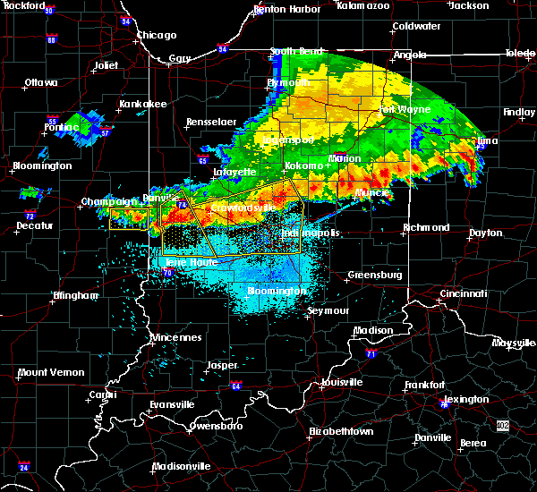 Radar Image for Severe Thunderstorms near Fairmount, IL at 7/13/2015 10:29 AM CDT
