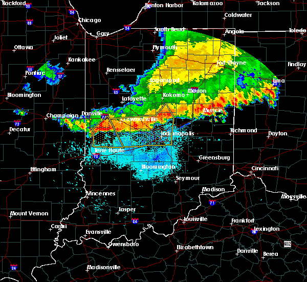 Radar Image for Severe Thunderstorms near Marshall, IN at 7/13/2015 11:36 AM EDT