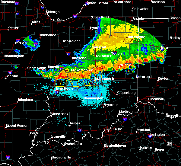 Radar Image for Severe Thunderstorms near Crawfordsville, IN at 7/13/2015 11:42 AM EDT