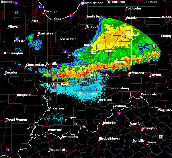 Radar Image for Severe Thunderstorms near Indianapolis, IN at 7/13/2015 11:51 AM EDT