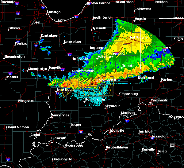 Radar Image for Severe Thunderstorms near Indianapolis, IN at 7/13/2015 12:11 PM EDT