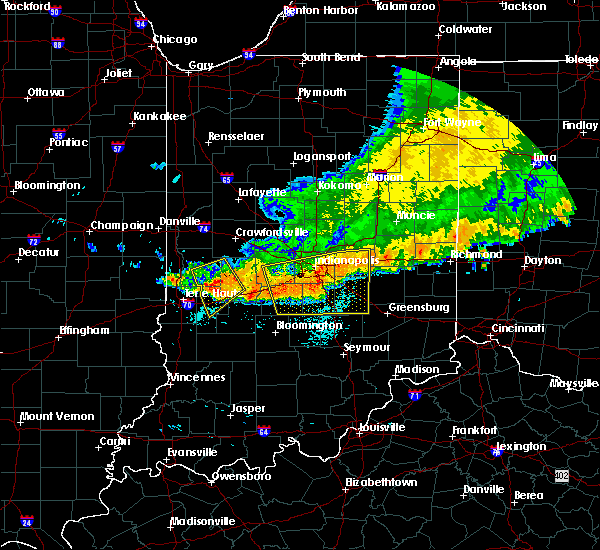 Radar Image for Severe Thunderstorms near Greencastle, IN at 7/13/2015 12:16 PM EDT