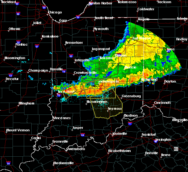 Radar Image for Severe Thunderstorms near Trafalgar, IN at 7/13/2015 12:25 PM EDT