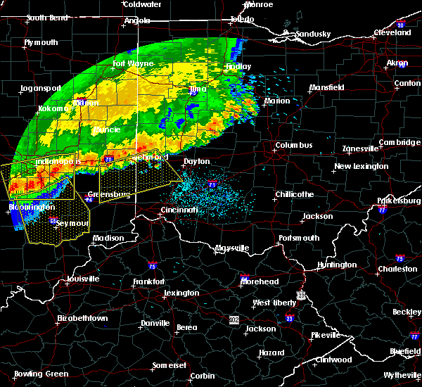 Radar Image for Severe Thunderstorms near Mount Auburn, IN at 7/13/2015 12:28 PM EDT