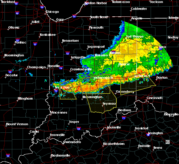 Radar Image for Severe Thunderstorms near Spencer, IN at 7/13/2015 12:30 PM EDT