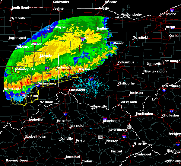 Radar Image for Severe Thunderstorms near College Corner, OH at 7/13/2015 12:47 PM EDT
