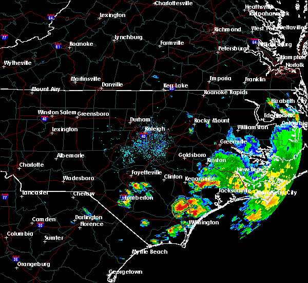 Radar Image for Severe Thunderstorms near Hope Mills, NC at 7/13/2015 12:50 PM EDT