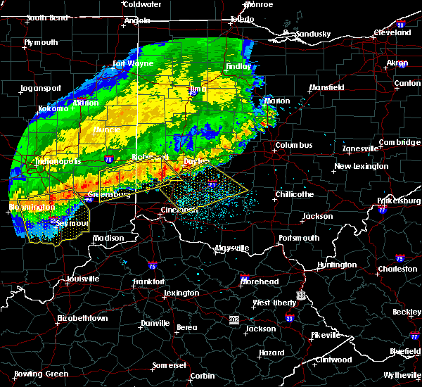 Radar Image for Severe Thunderstorms near Dayton, OH at 7/13/2015 12:56 PM EDT