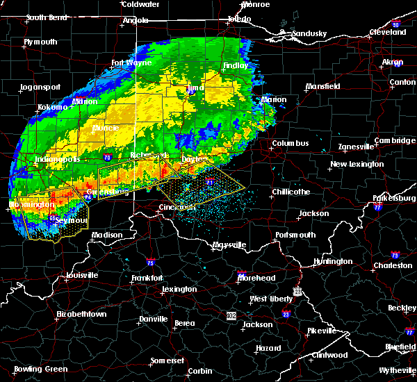 Radar Image for Severe Thunderstorms near Cincinnati, OH at 7/13/2015 1:00 PM EDT