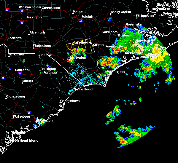 Radar Image for Severe Thunderstorms near Burgaw, NC at 7/13/2015 12:59 PM EDT