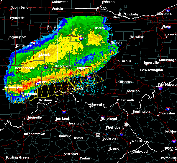 Radar Image for Severe Thunderstorms near College Corner, OH at 7/13/2015 1:05 PM EDT