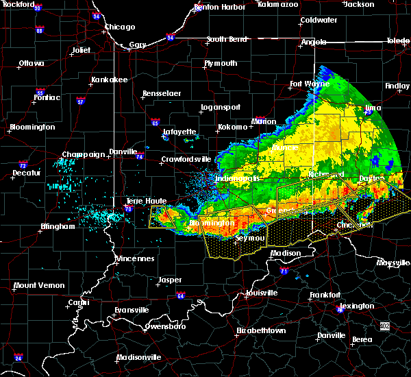 Radar Image for Severe Thunderstorms near Hope, IN at 7/13/2015 1:05 PM EDT