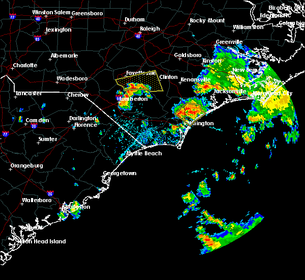 Radar Image for Severe Thunderstorms near Porters Neck, NC at 7/13/2015 1:08 PM EDT