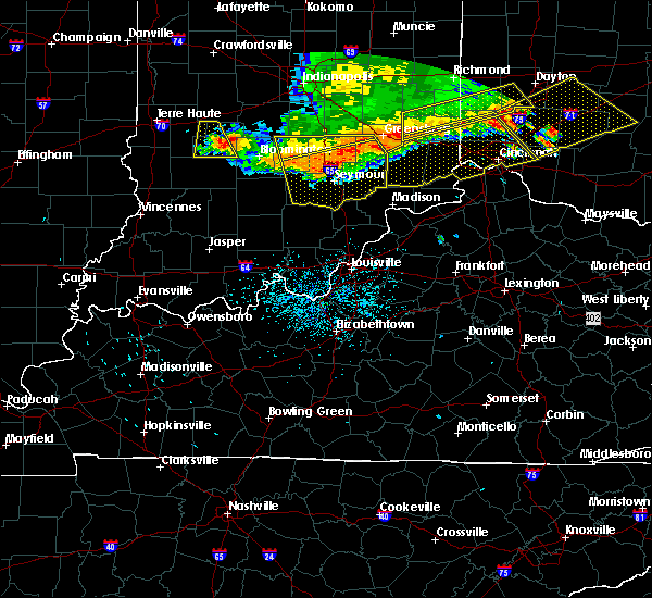 Radar Image for Severe Thunderstorms near Butlerville, IN at 7/13/2015 1:13 PM EDT