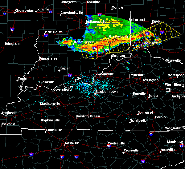 Radar Image for Severe Thunderstorms near Scottsburg, IN at 7/13/2015 1:21 PM EDT