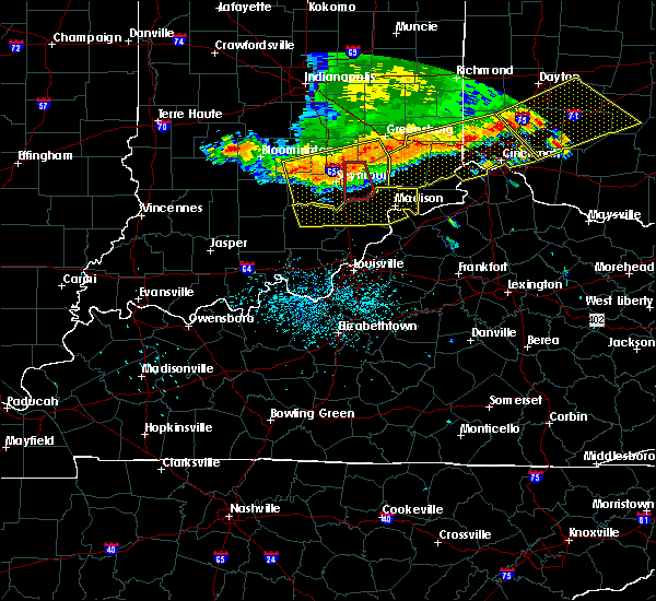 Radar Image for Severe Thunderstorms near Milton, KY at 7/13/2015 1:21 PM EDT