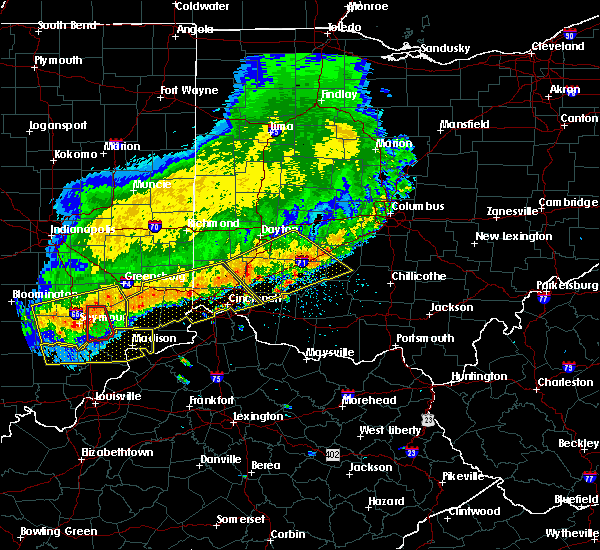 Radar Image for Severe Thunderstorms near Waynesville, OH at 7/13/2015 1:25 PM EDT