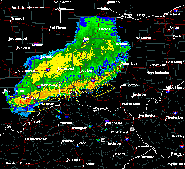 Radar Image for Severe Thunderstorms near Leesburg, OH at 7/13/2015 1:34 PM EDT