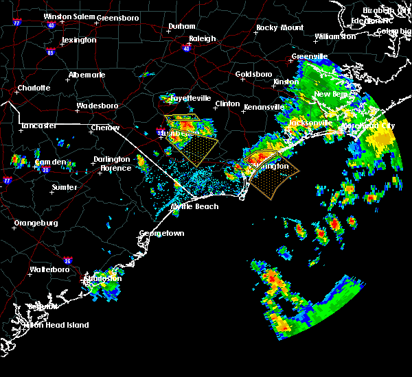 Radar Image for Severe Thunderstorms near Porters Neck, NC at 7/13/2015 1:36 PM EDT