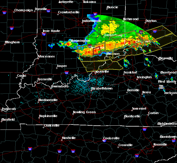 Radar Image for Severe Thunderstorms near Utica, KY at 7/13/2015 1:43 PM EDT