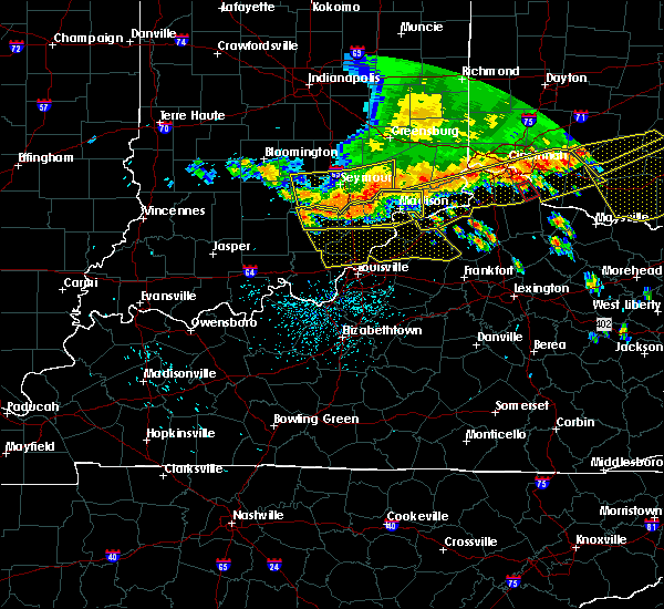 Radar Image for Severe Thunderstorms near Hanover, IN at 7/13/2015 1:55 PM EDT