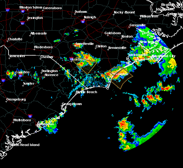 Radar Image for Severe Thunderstorms near Porters Neck, NC at 7/13/2015 1:55 PM EDT