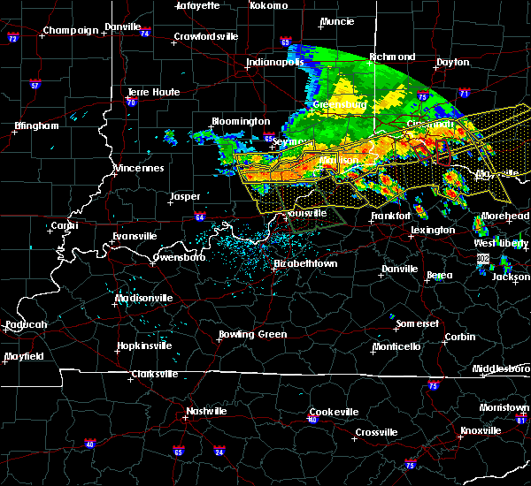Radar Image for Severe Thunderstorms near Hanover, IN at 7/13/2015 2:01 PM EDT