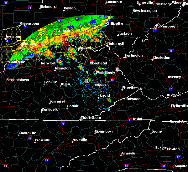 Radar Image for Severe Thunderstorms near Elizaville, KY at 7/13/2015 2:12 PM EDT