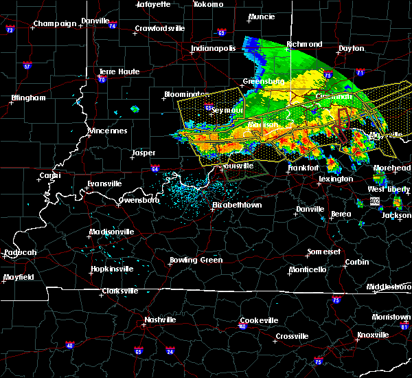 Radar Image for Severe Thunderstorms near Utica, KY at 7/13/2015 2:18 PM EDT