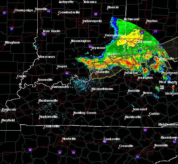 Radar Image for Severe Thunderstorms near Henryville, IN at 7/13/2015 2:28 PM EDT