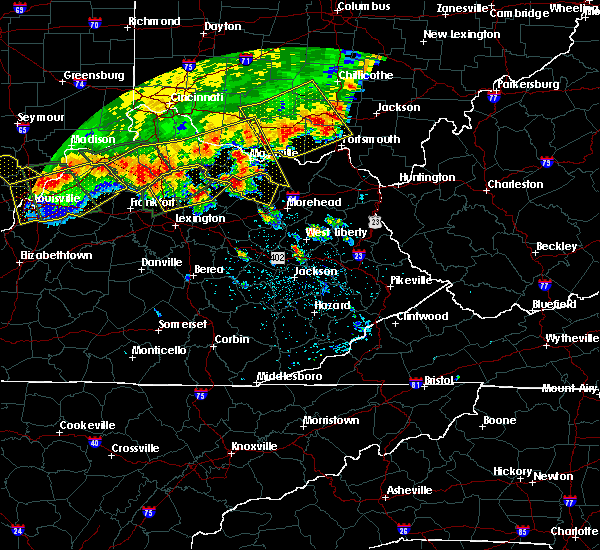 Radar Image for Severe Thunderstorms near Ewing, KY at 7/13/2015 2:33 PM EDT