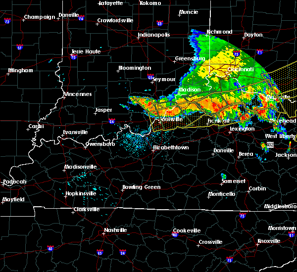 Radar Image for Severe Thunderstorms near Frankfort, KY at 7/13/2015 2:39 PM EDT