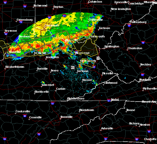 Radar Image for Severe Thunderstorms near Grayson, KY at 7/13/2015 2:42 PM EDT
