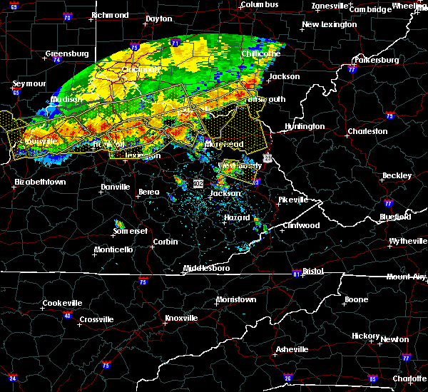 Radar Image for Severe Thunderstorms near Georgetown, KY at 7/13/2015 2:46 PM EDT