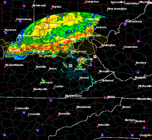 Radar Image for Severe Thunderstorms near Morehead, KY at 7/13/2015 2:49 PM EDT