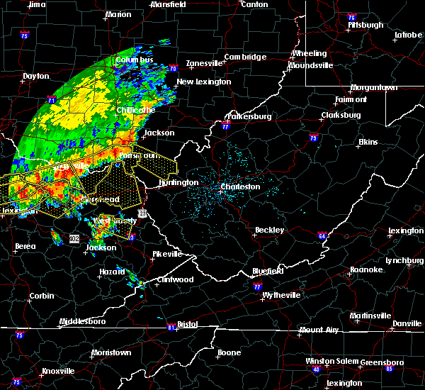 Radar Image for Severe Thunderstorms near Athalia, OH at 7/13/2015 2:49 PM EDT