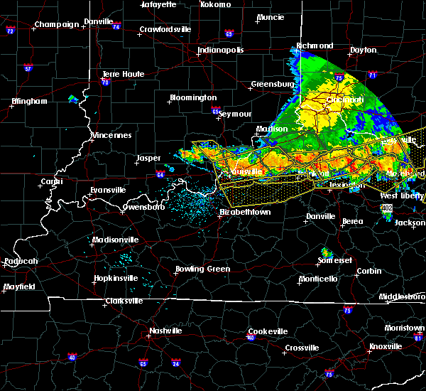 Radar Image for Severe Thunderstorms near Bardstown, KY at 7/13/2015 2:55 PM EDT