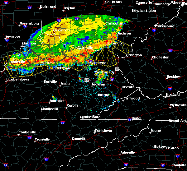 Radar Image for Severe Thunderstorms near Paintsville, KY at 7/13/2015 2:59 PM EDT