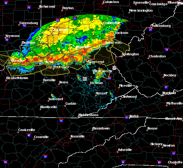 Radar Image for Severe Thunderstorms near Morehead, KY at 7/13/2015 3:06 PM EDT