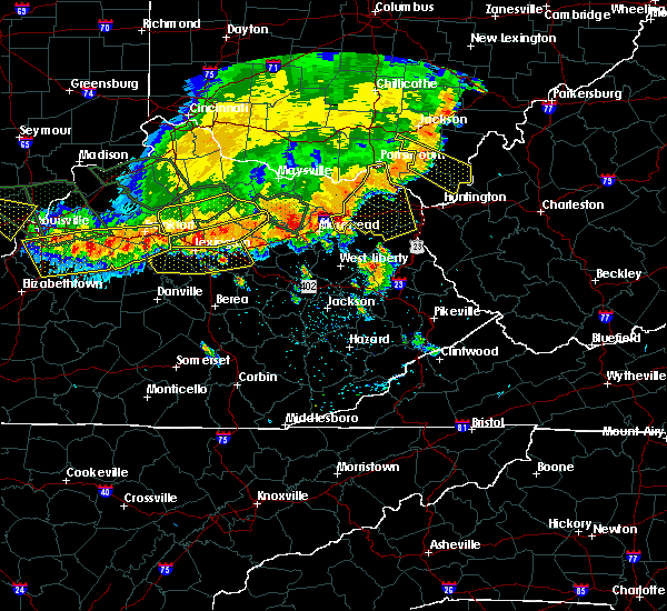 Radar Image for Severe Thunderstorms near Stanton, KY at 7/13/2015 3:18 PM EDT