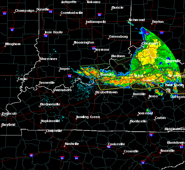 Radar Image for Severe Thunderstorms near Georgetown, IN at 7/13/2015 3:24 PM EDT