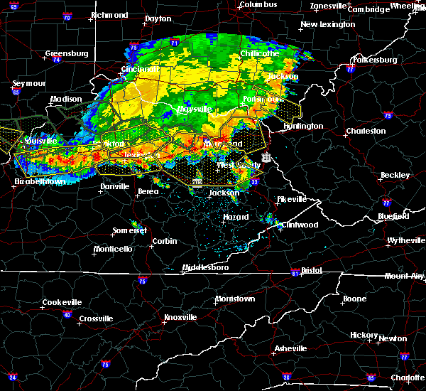 Radar Image for Severe Thunderstorms near Greenup, KY at 7/13/2015 3:25 PM EDT