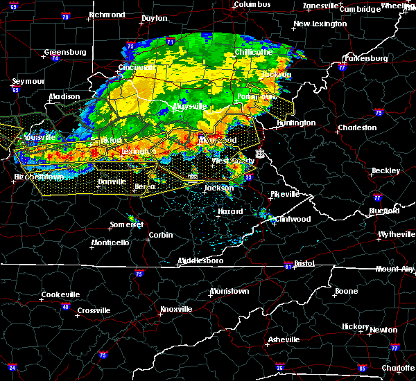 Radar Image for Severe Thunderstorms near Stanton, KY at 7/13/2015 3:31 PM EDT
