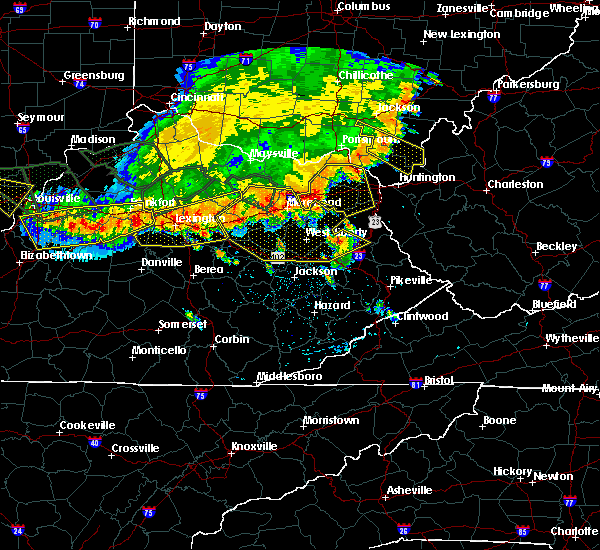 Radar Image for Severe Thunderstorms near Harrodsburg, KY at 7/13/2015 3:30 PM EDT