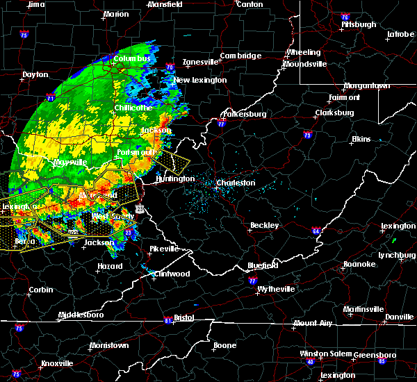 Radar Image for Severe Thunderstorms near Gallipolis, OH at 7/13/2015 3:33 PM EDT