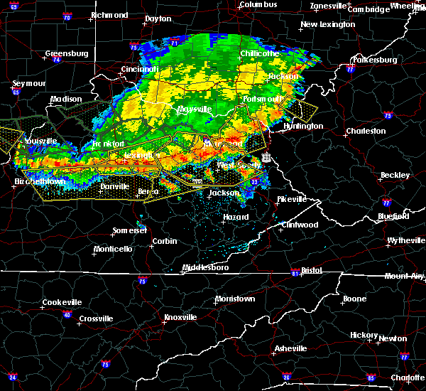 Radar Image for Severe Thunderstorms near Stanton, KY at 7/13/2015 3:37 PM EDT
