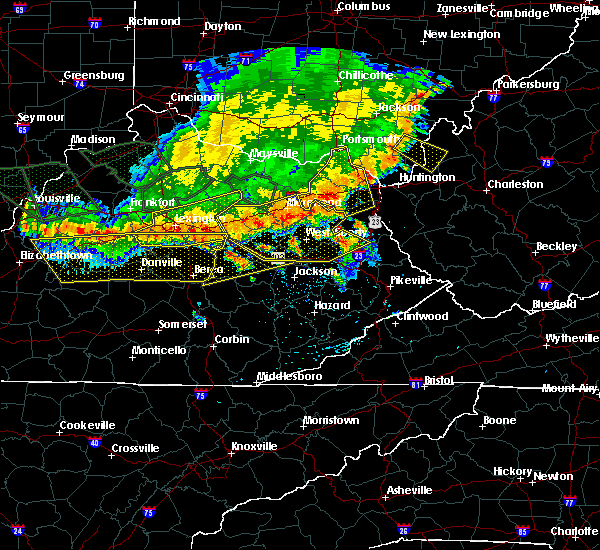 Radar Image for Severe Thunderstorms near Grayson, KY at 7/13/2015 3:40 PM EDT