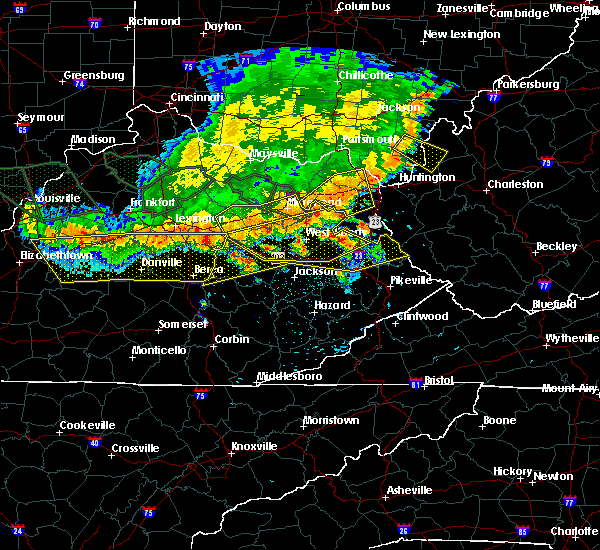 Radar Image for Severe Thunderstorms near Kermit, WV at 7/13/2015 3:45 PM EDT